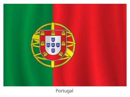 Portugal flag  イラスト・ベクター素材
