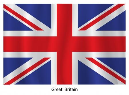 irish pride: British flag Illustration