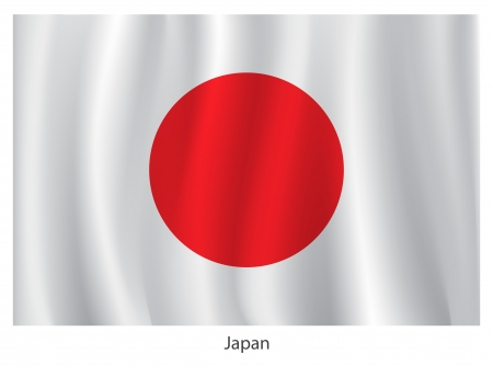 Japan flag Stock Vector - 20285678
