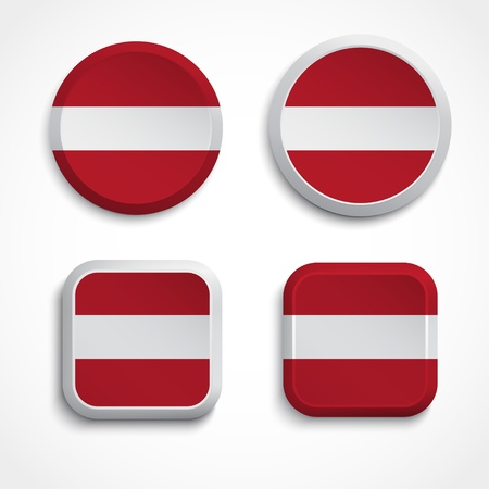 Latvia flag buttons, illustration Vector