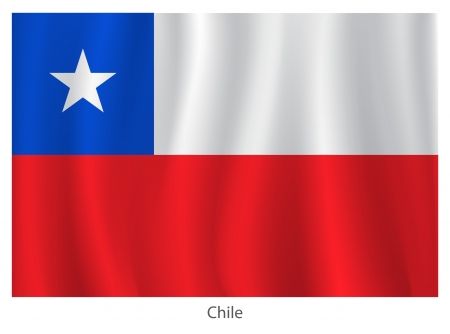 chile flag: Chile flag with titles on the white background, vector illustration Illustration