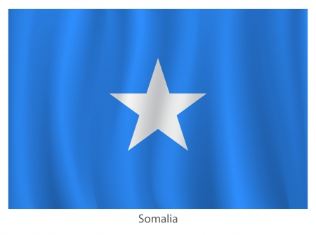 somalian: Somalia flag with titles on the white background, vector illustration