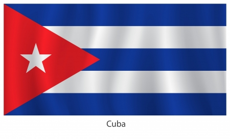Cuba flag with titles on the white background Stock Vector - 20946214