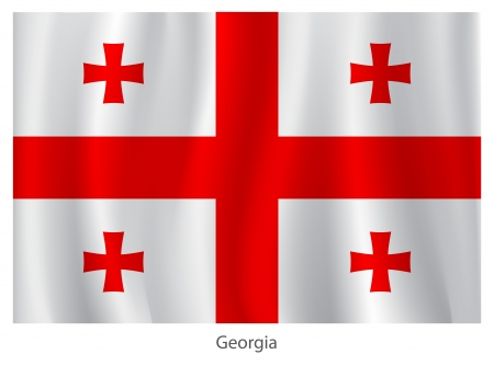 georgia flag: Georgia flag with titles on the white background Illustration