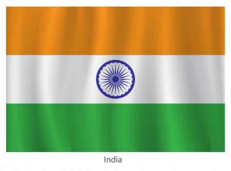 bandera de LA INDIA: bandera ndia con los títulos en el fondo blanco