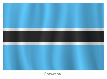 botswanan: Botswana flag with titles on the white background