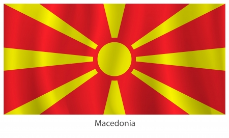 Macedonia flag with titles on the white background, vector illustration Vector