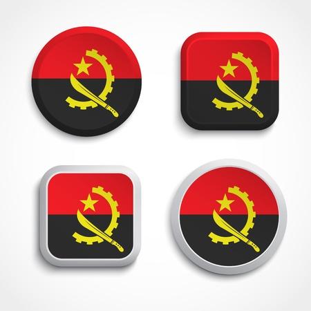 angola: Angola flag buttons, vector illustration Illustration