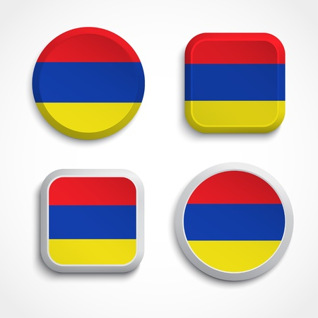 armenian: Armenia flag buttons, vector illustration Illustration