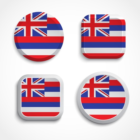 Hawaii flag buttons, vector illustration Stock Vector - 21327263