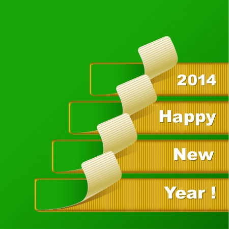 New Year 2014 abstract background, vector illustration Vector