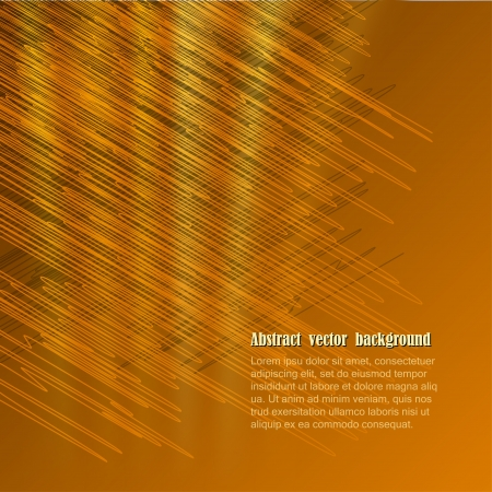 Abstract vector background  in golden tones Vector