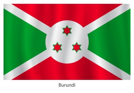 burundi: Burundi flag with title on the white background