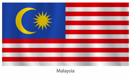Malaysia flag with title on the white background