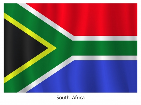 african culture: South Africa flag with title on the white background