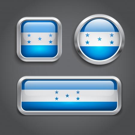 bandera honduras: Conjunto de Honduras botones de cristal del pabell�n