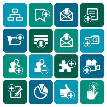 Set of internet web icons, vector illustration Vector