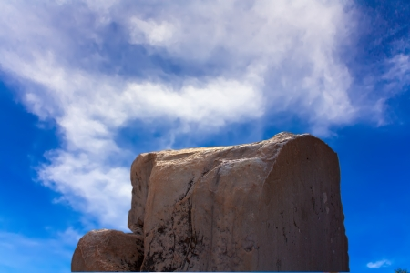 Ancient stone on the blue sky , Ephesus, Turkey photo