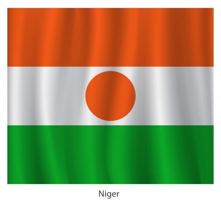 niger: Niger flag with title, vector illustration Illustration