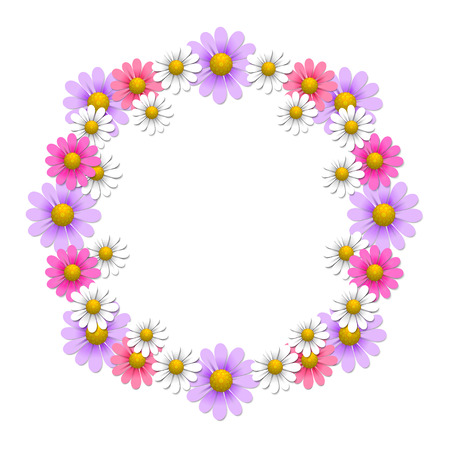 yellow daisy: Floral background with camomile and daisy