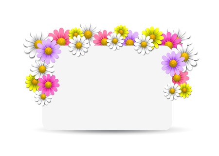 Floral background with daisy, vector illustration Vector