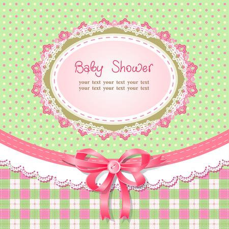 Baby shower for girl, vector illustration Vector