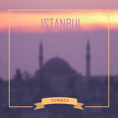 eastern spirituality: Istanbul blurred photo background. Vector illustration
