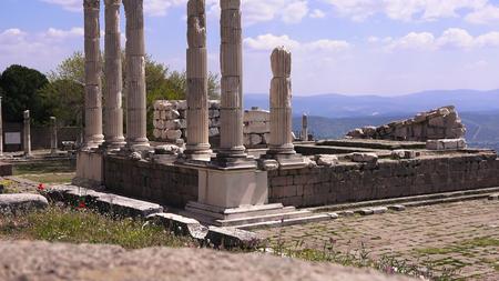 Pergamon museum, ruins of ancieny acropolis, Bergama, Turkey Editorial