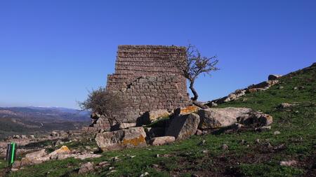Assos (Behramkale), ruins of ancient acropolis, now museum, Turkey