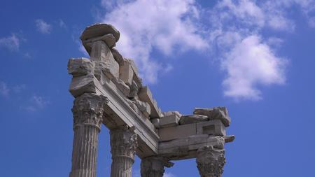 Temple of Trajan in the ancient city of Pergamon, Bergama, Turkey