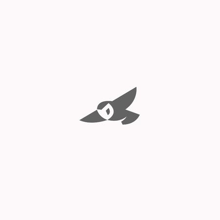 owl  logo vector illustration Stock Vector - 104965786