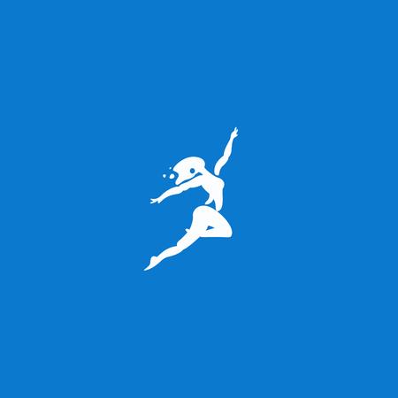 dance logo vector illustration Illustration