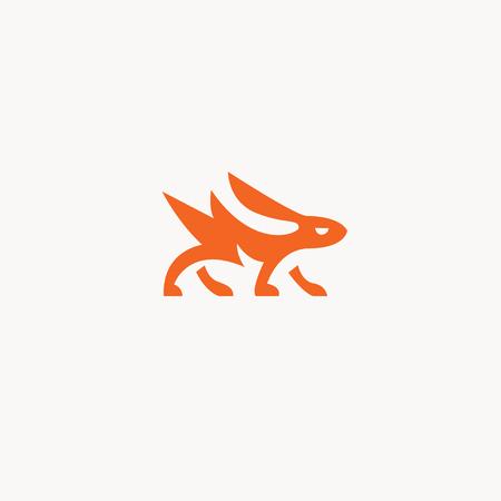 rabbit  logo vector illustration