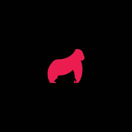 gorilla  logo vector illustration