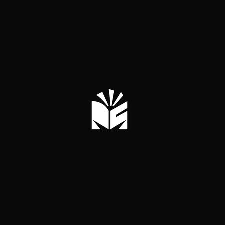 Creative Vector Line Letter M Alphabet Symbol
