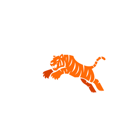 Tiger icon illustration isolated on white Vectores