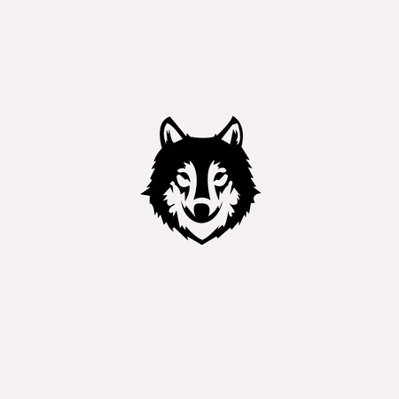 wolf  logo . Vector illustration . icon animal .template. vector. editable.