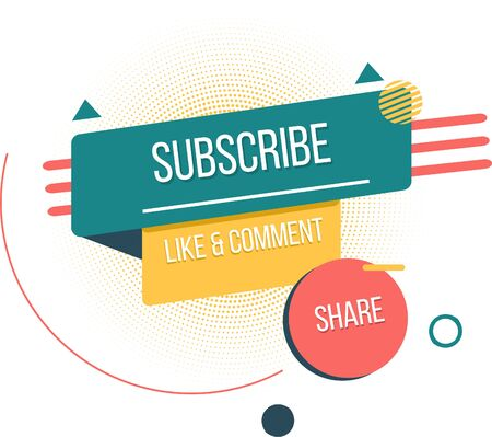 Isometric subscribe concept colorful ,social media