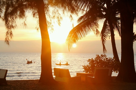 view: Sunset Sea view Stock Photo