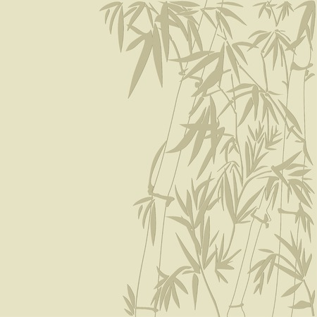 Abstract floral background with a bamboo Vector