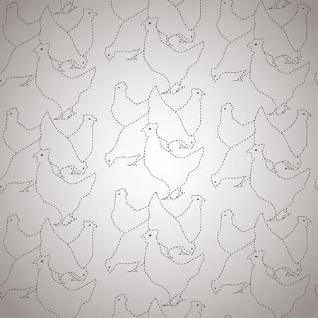 poult: Pollos seamless vector patr�n
