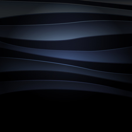 Blue abstract background with curved lines