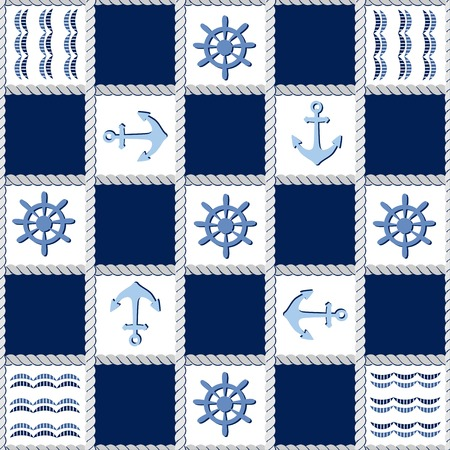Marine theme. Blue sea  pattern