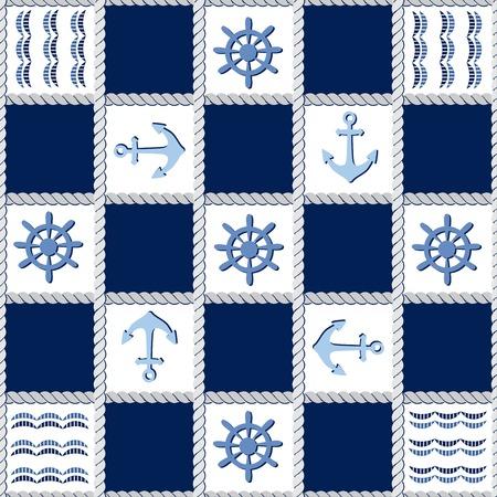 Marine theme. Blue sea  pattern
