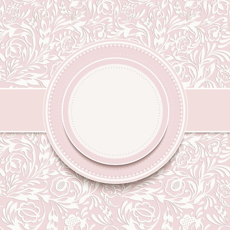Invitation  with abstract floral background Vector
