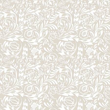 floral tracery: Seamless floral pattern