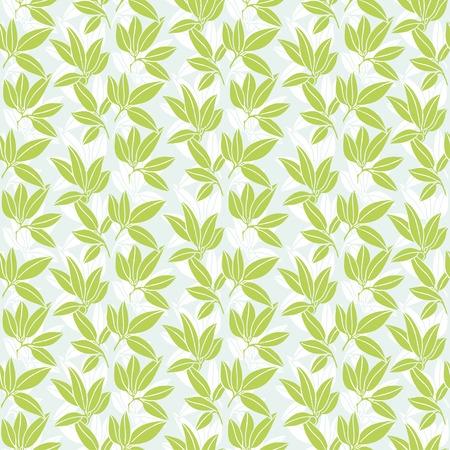 illustration leaves of palm tree. Seamless pattern.