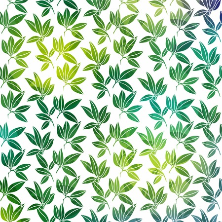 Background with palm leaves Vector