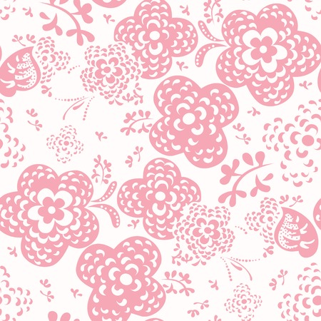 Floral seamless pattern or background, Vector