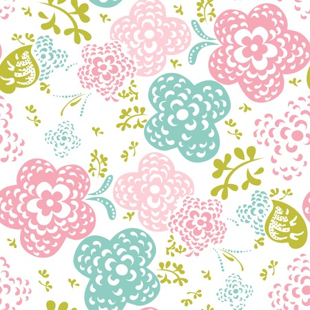 Floral seamless pattern or background Vector